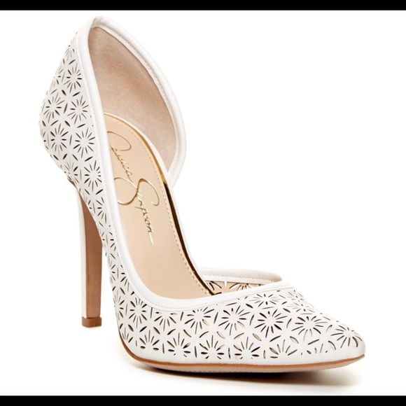 627b6be4ad0 Jessica Simpson Shoes - 🆕JESSICA SIMPSON - White 4-inch Cut-out Heels